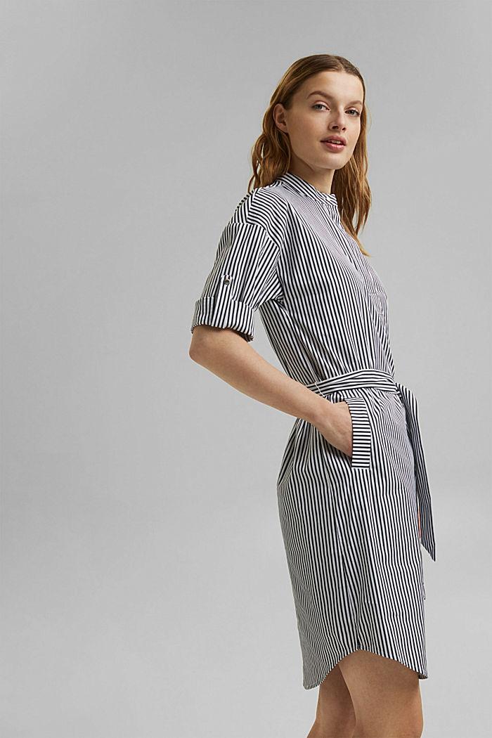 Hemdblusenkleid mit Streifenmuster