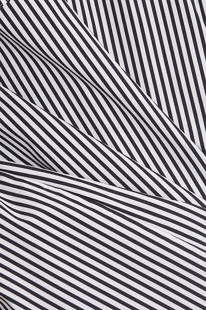 Shirt dress with a stripe pattern, NAVY, detail image number 5