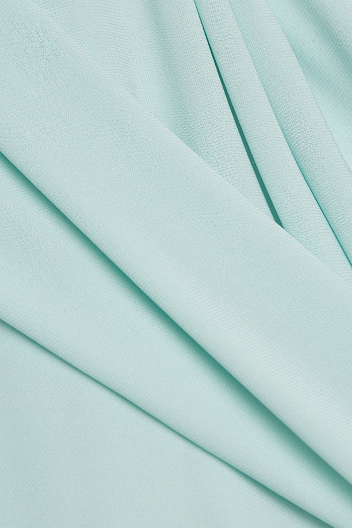 Layered-effect chiffon dress with decorative studs, LIGHT TURQUOISE, detail image number 4