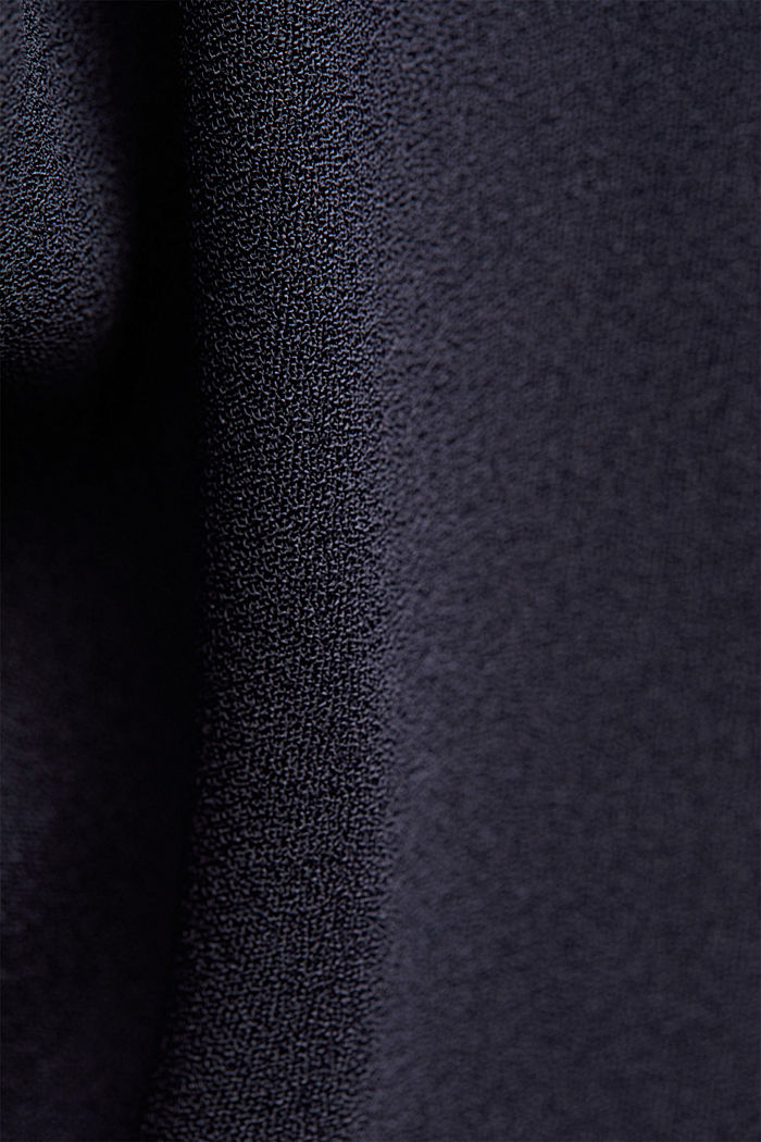 Waterfall blouse made of crêpe, NAVY, detail image number 4