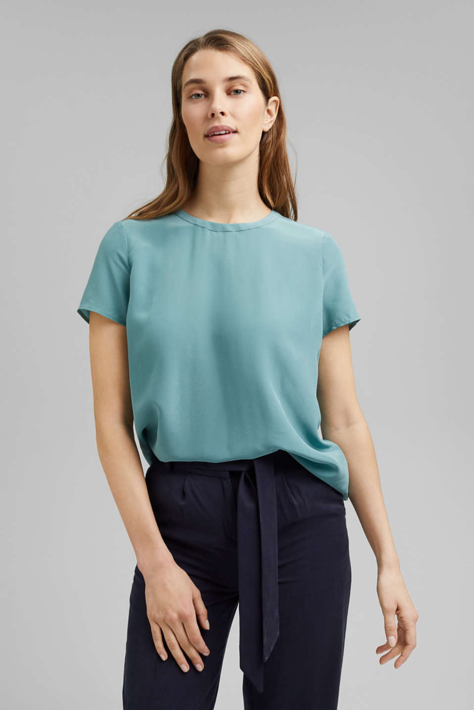 Esprit - Made of blended silk: blouse top