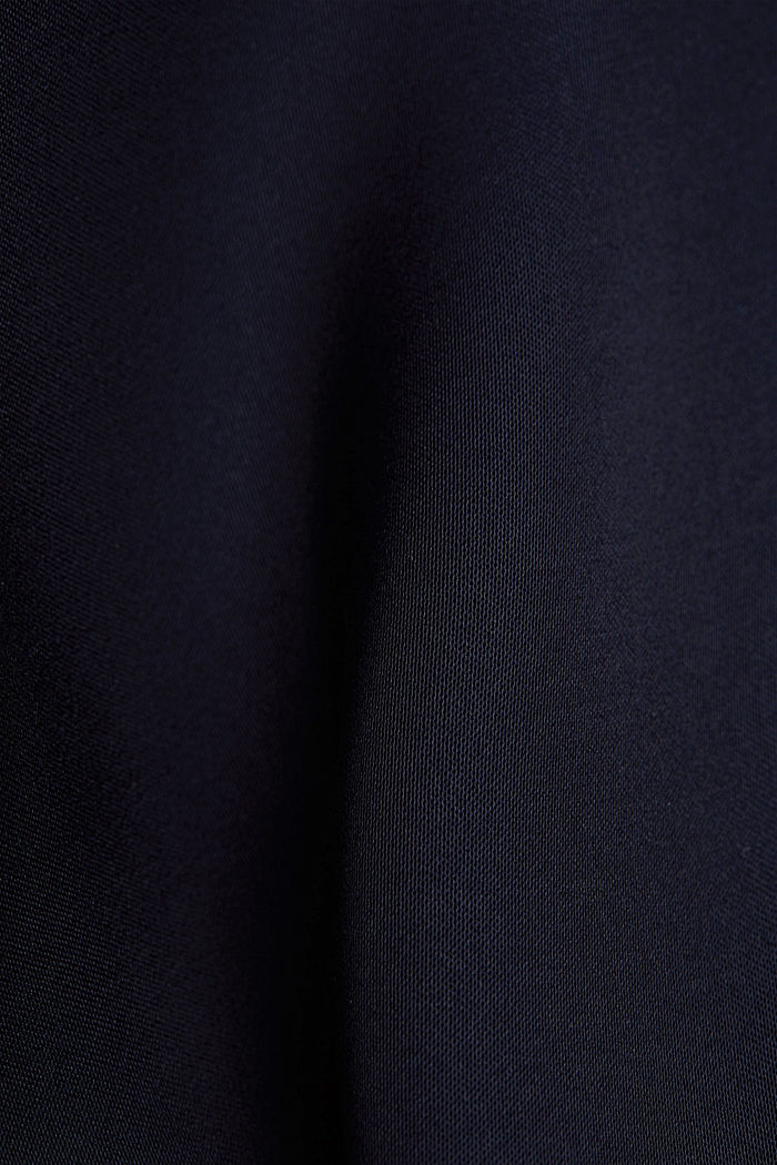 Satin-Top aus LENZING™ ECOVERO™, NAVY, detail image number 4