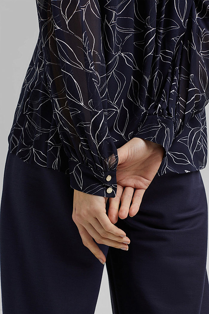 2-In-1 printed blouse, NAVY, detail image number 2