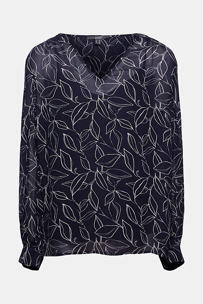 2-In-1 printed blouse, NAVY, detail image number 5