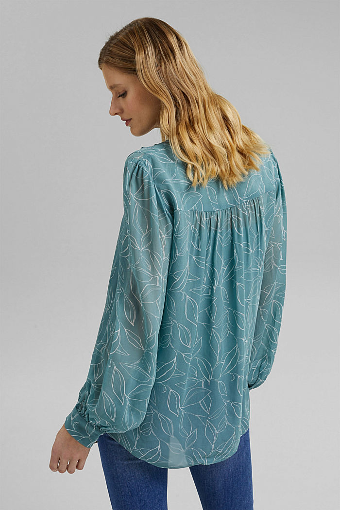 2-In-1 printed blouse, DARK TURQUOISE, detail image number 3