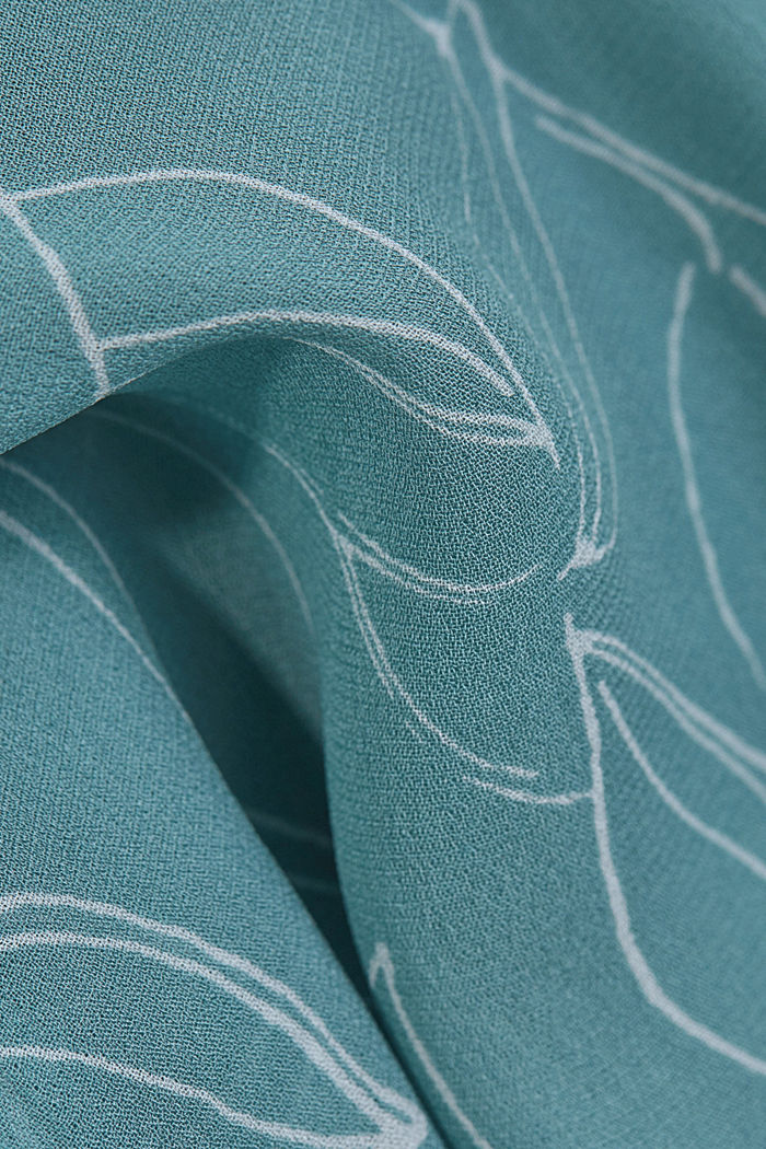 2-In-1 printed blouse, DARK TURQUOISE, detail image number 4