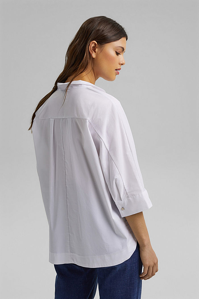 Pull-on blouse in a kimono style, WHITE, detail image number 3