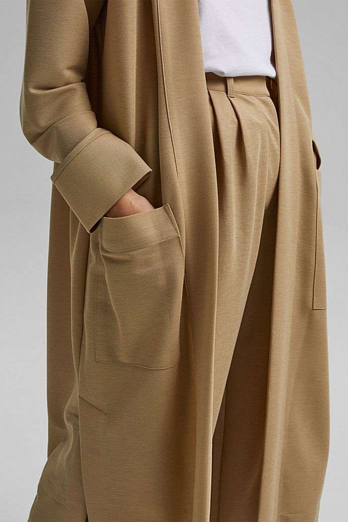PIQUE Mix + Match long cardigan, BEIGE, detail image number 2