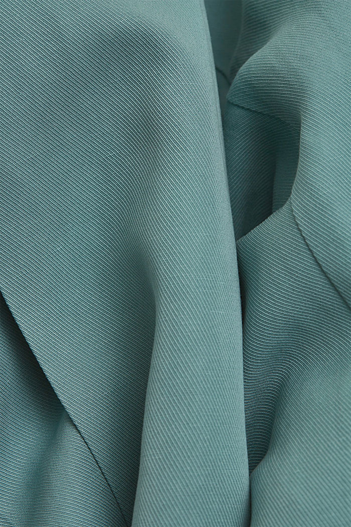 SOFT mix + match blazer met linnen, DARK TURQUOISE, detail image number 4