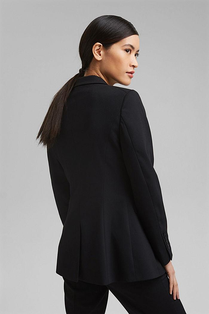 TWILL Mix + Match licht getailleerde blazer, BLACK, detail image number 3