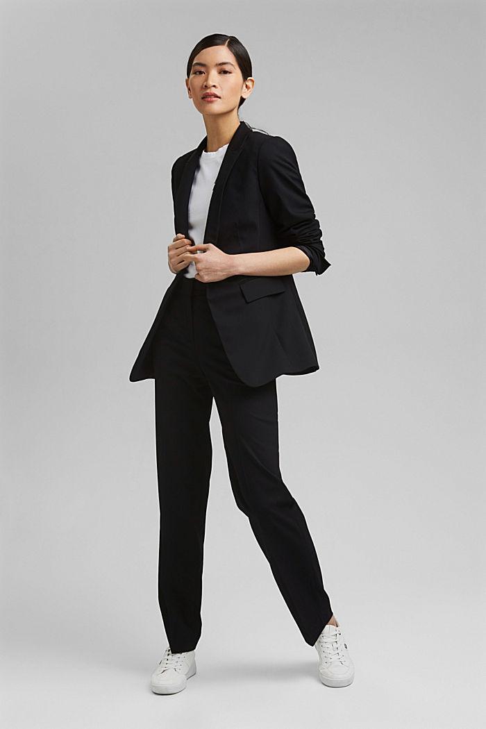 TWILL Mix + Match licht getailleerde blazer, BLACK, detail image number 1