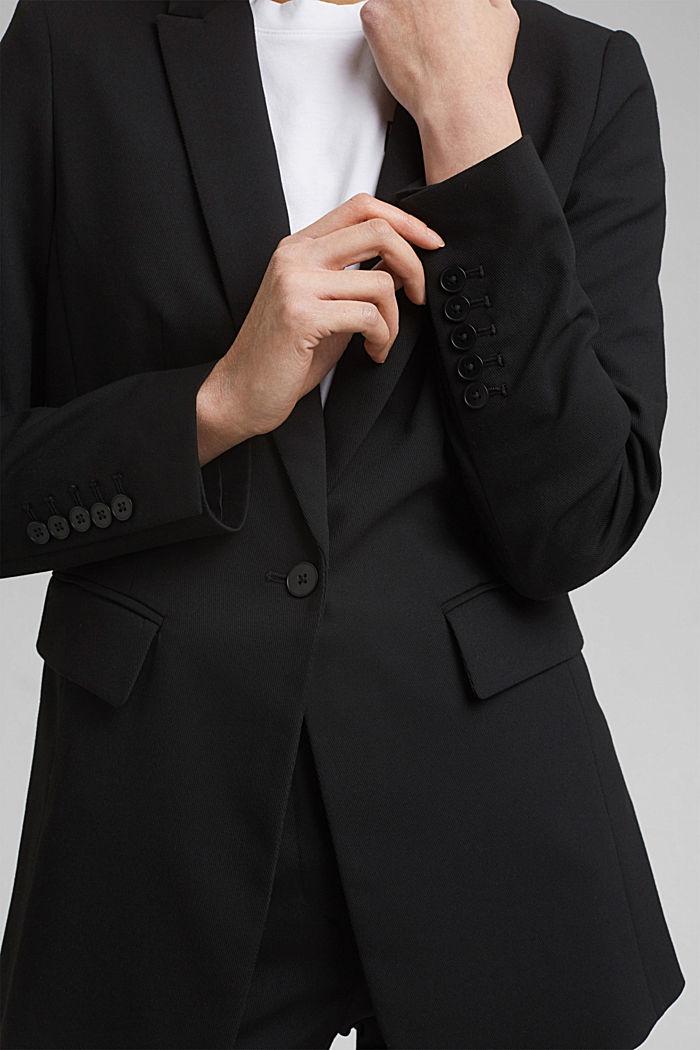 TWILL Mix + Match licht getailleerde blazer, BLACK, detail image number 2