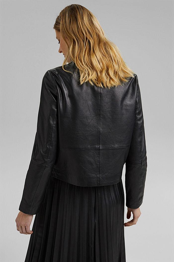 Lederjacke aus 100% Leder, BLACK, detail image number 3