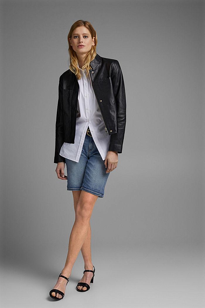 Lederjacke aus 100% Leder, BLACK, detail image number 6