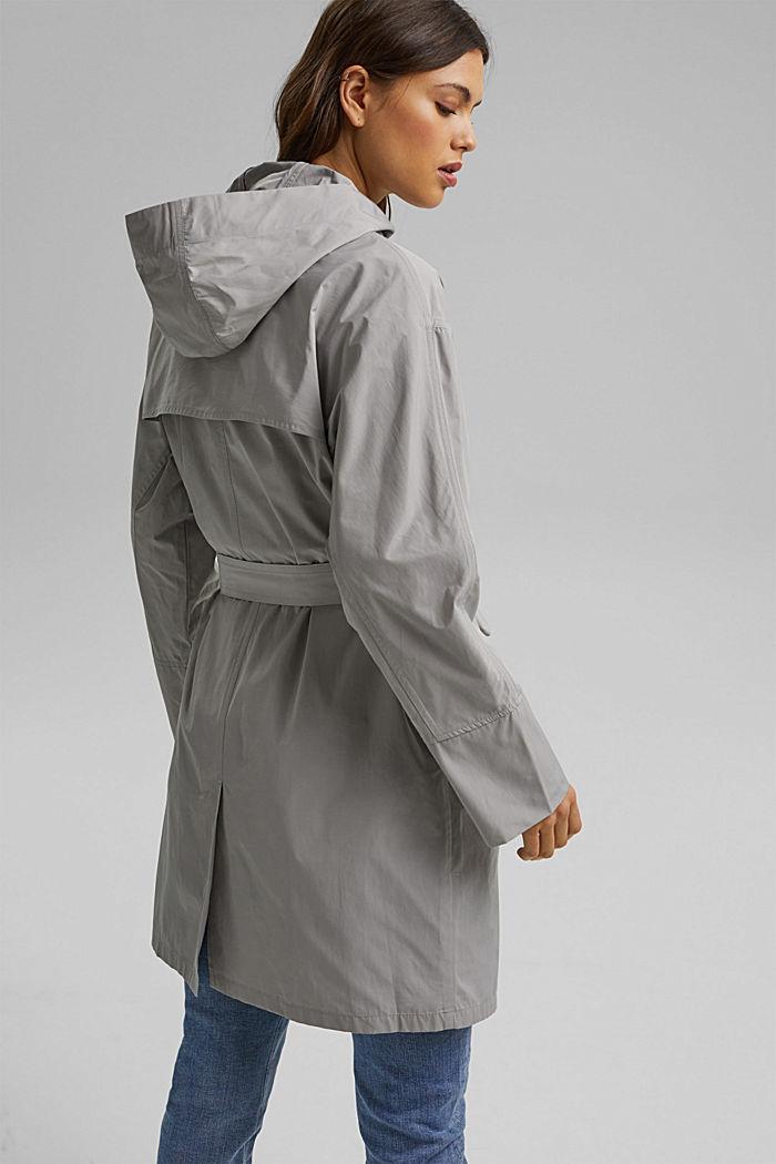 Leichter Mantel mit Kapuze, SILVER, detail image number 3