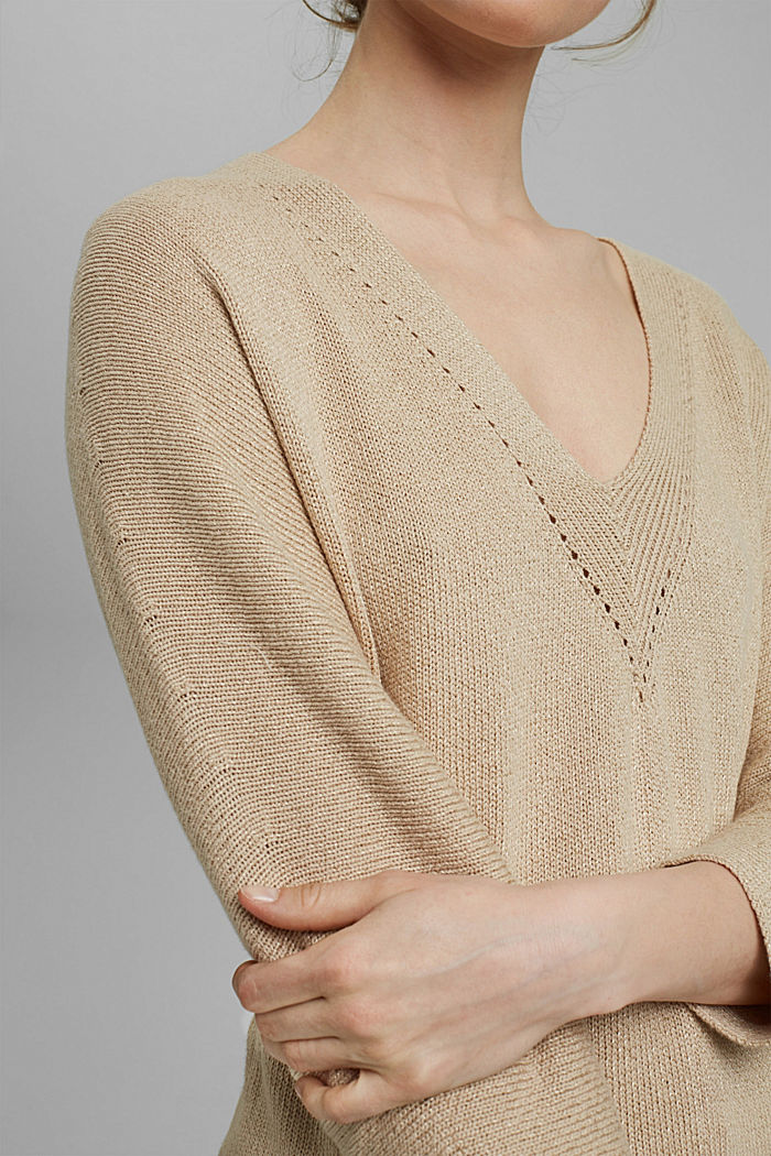 Sweaters, DUSTY NUDE, detail image number 2
