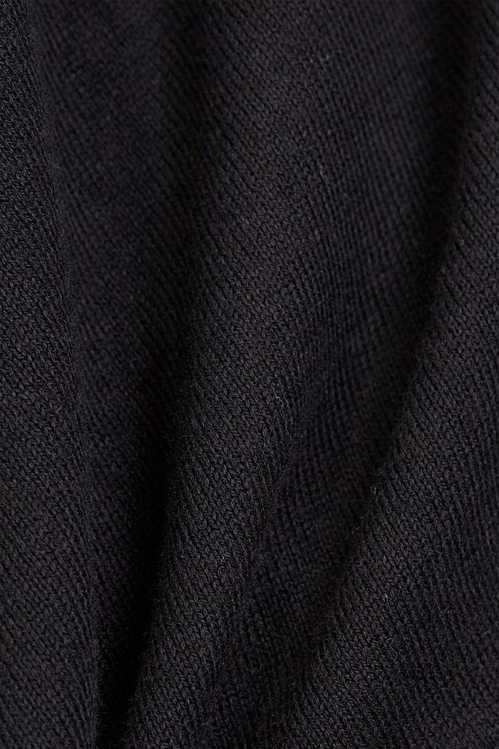 Short sleeve cardigan containing LENZING™ ECOVERO™, BLACK, detail image number 4