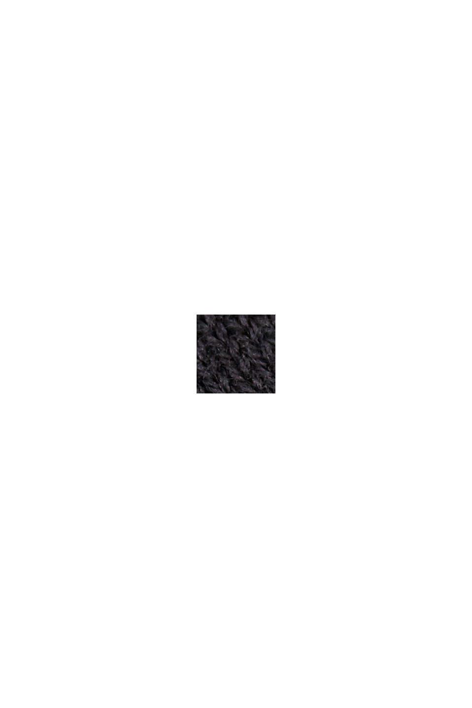 Kardigan z krótkim rękawem, z włóknem LENZING™ ECOVERO™, BLACK, swatch