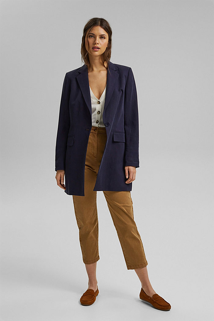 Short sleeve cardigan containing LENZING™ ECOVERO™, OFF WHITE, detail image number 1