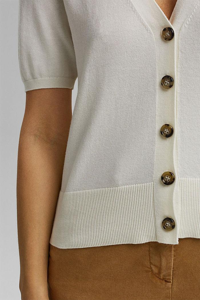 Short sleeve cardigan containing LENZING™ ECOVERO™, OFF WHITE, detail image number 2