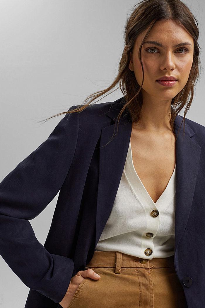 Short sleeve cardigan containing LENZING™ ECOVERO™, OFF WHITE, detail image number 6