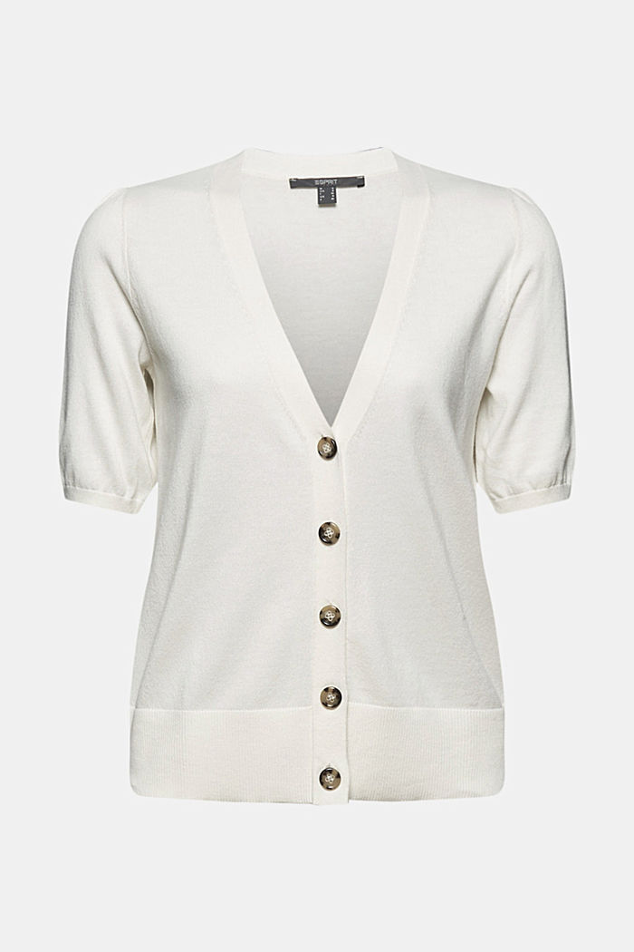 Short sleeve cardigan containing LENZING™ ECOVERO™