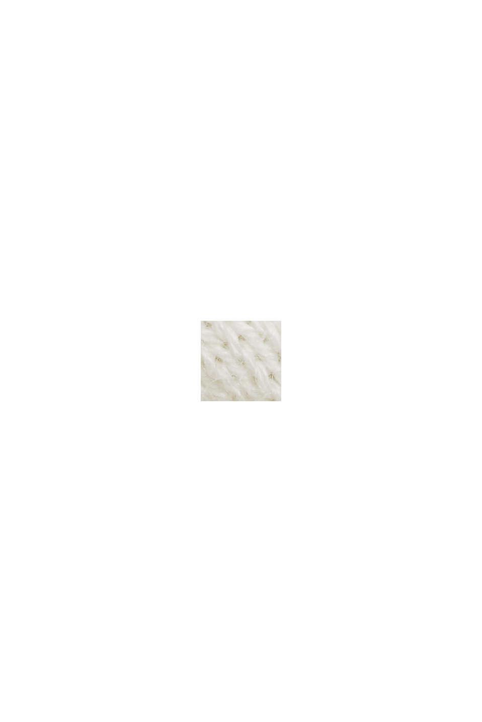 Kardigan z krótkim rękawem, z włóknem LENZING™ ECOVERO™, OFF WHITE, swatch