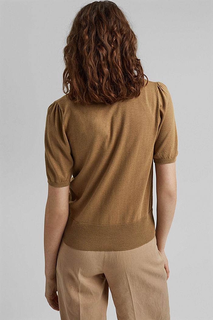 Cardigan à manches courtes, à teneur en fibre LENZING™ ECOVERO™, BARK, detail image number 3