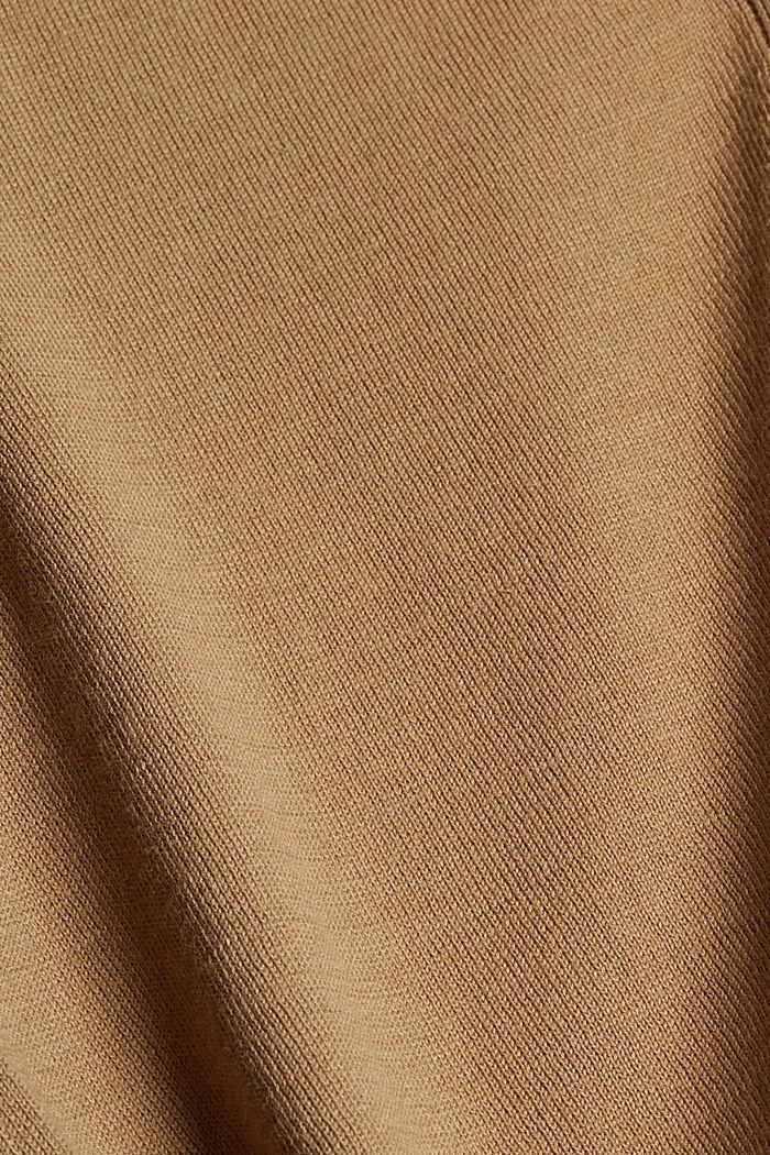 Cardigan à manches courtes, à teneur en fibre LENZING™ ECOVERO™, BARK, detail image number 4