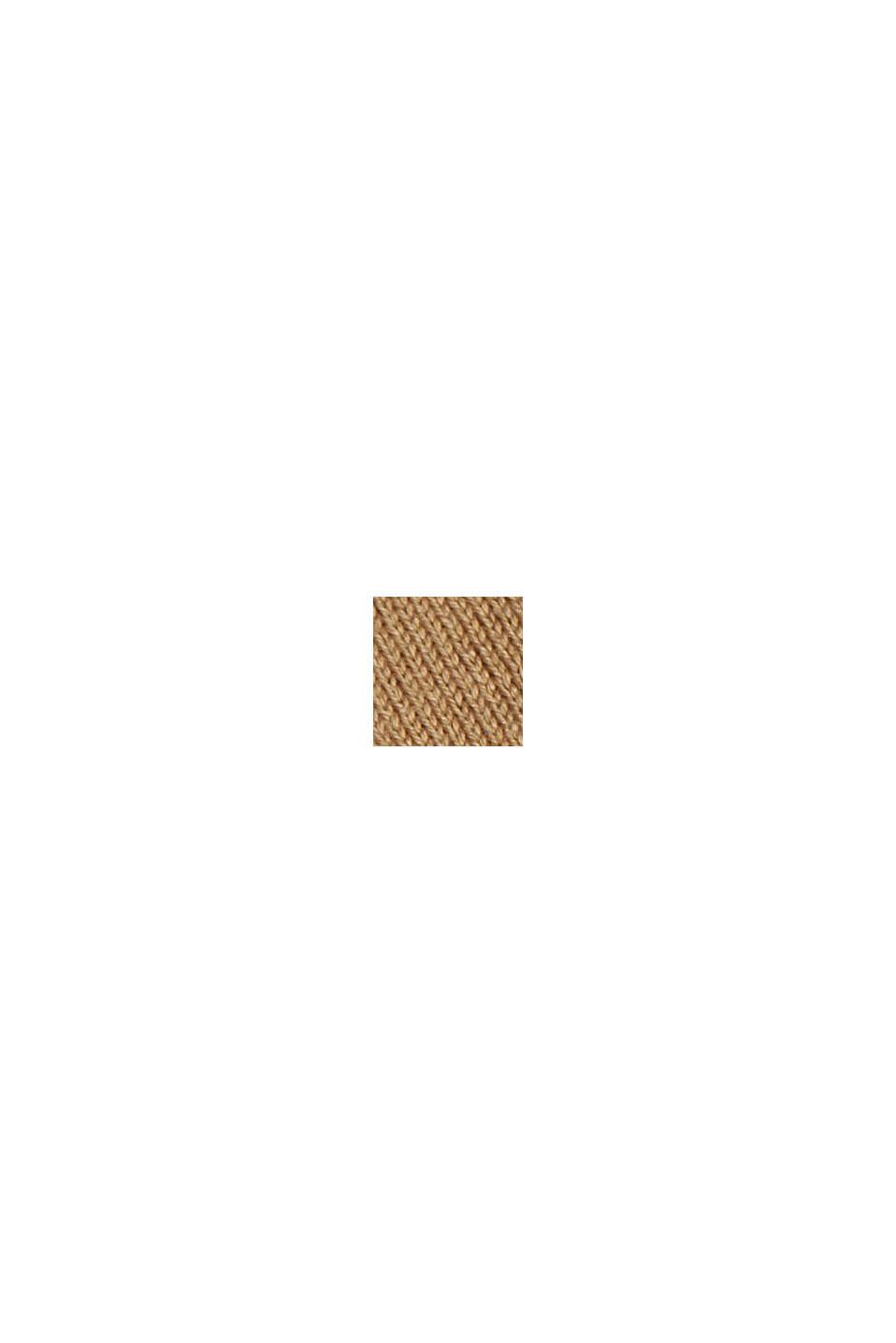 Kardigan z krótkim rękawem, z włóknem LENZING™ ECOVERO™, BARK, swatch