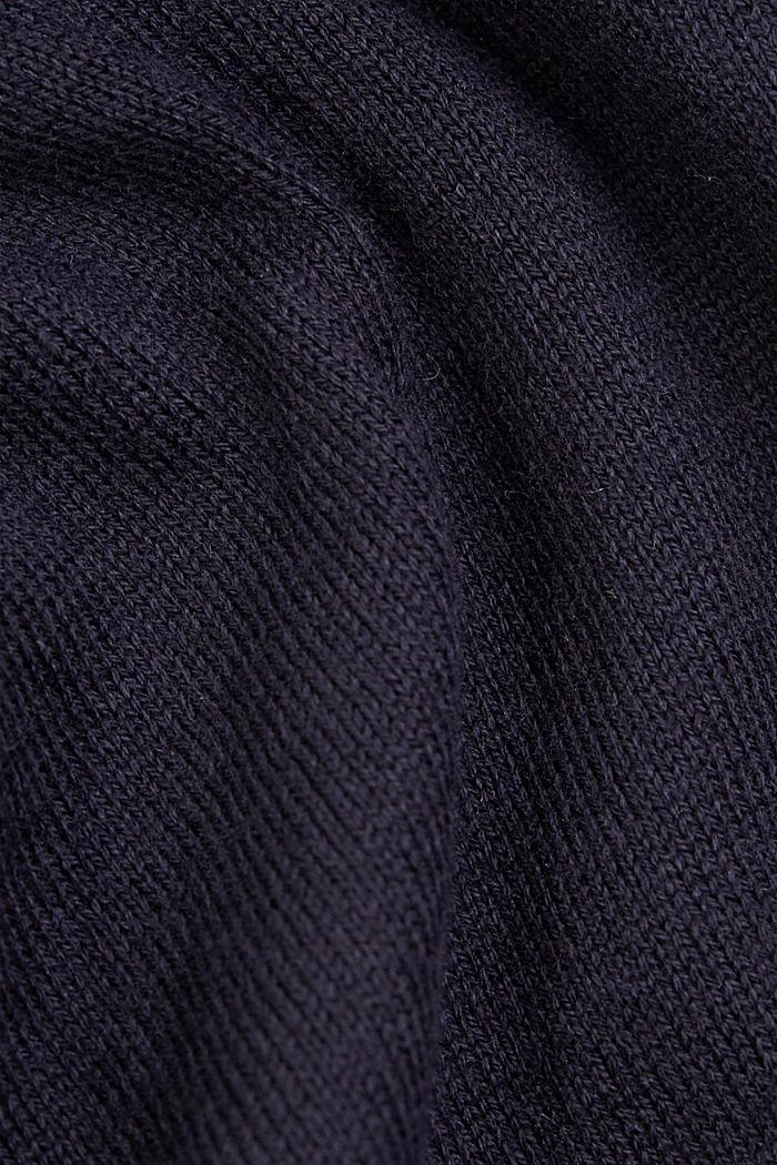 Kurzarm-Cardigan mit LENZING™ ECOVERO™, NAVY, detail image number 4