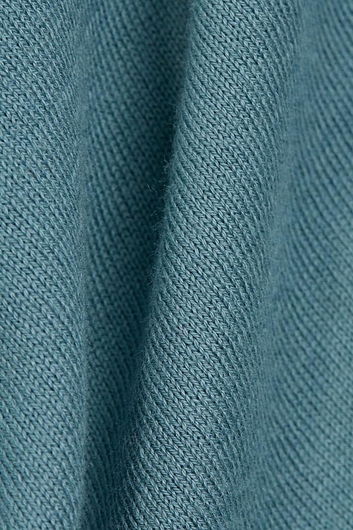 Short sleeve cardigan containing LENZING™ ECOVERO™, DARK TURQUOISE, detail image number 4