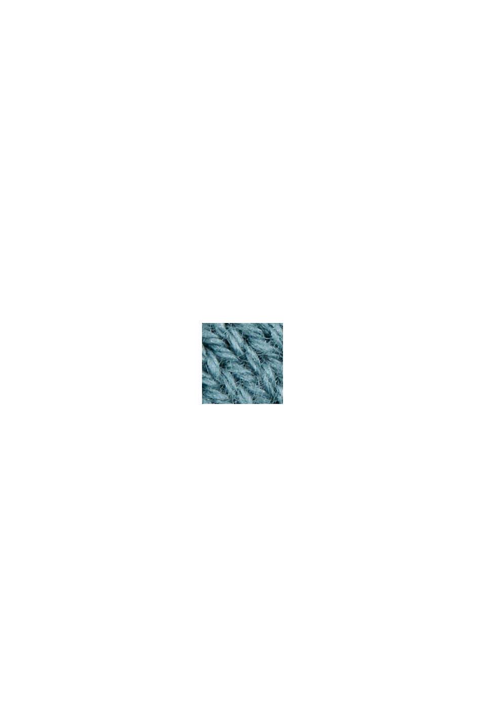 Kardigan z krótkim rękawem, z włóknem LENZING™ ECOVERO™, DARK TURQUOISE, swatch