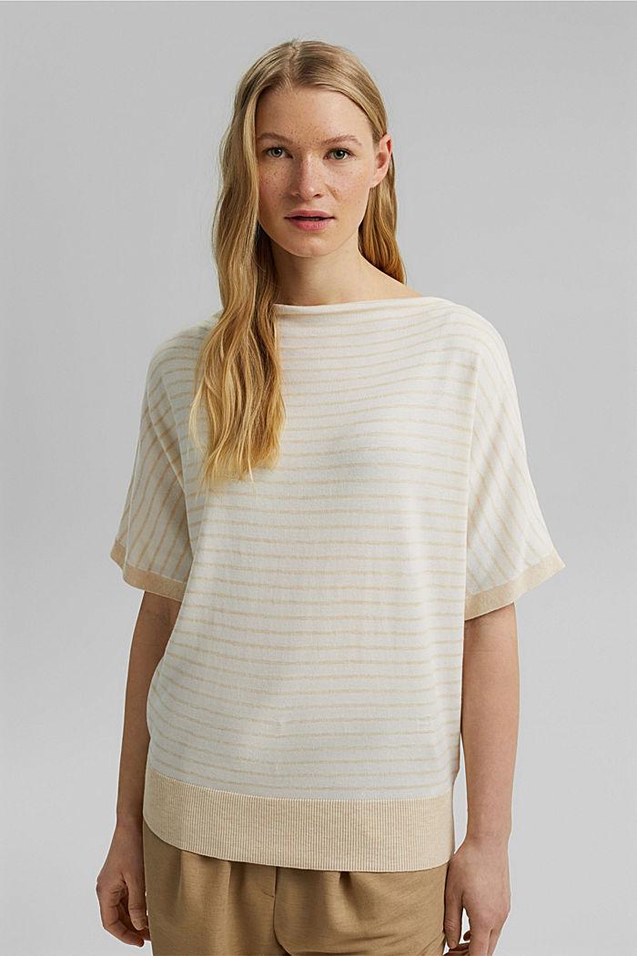 Feiner Kurzarm-Pullover mit LENZING™ ECOVERO™