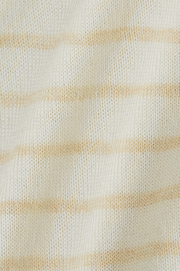 Fine short-sleeved jumper containing LENZING™ ECOVERO™, CREAM BEIGE, detail image number 4