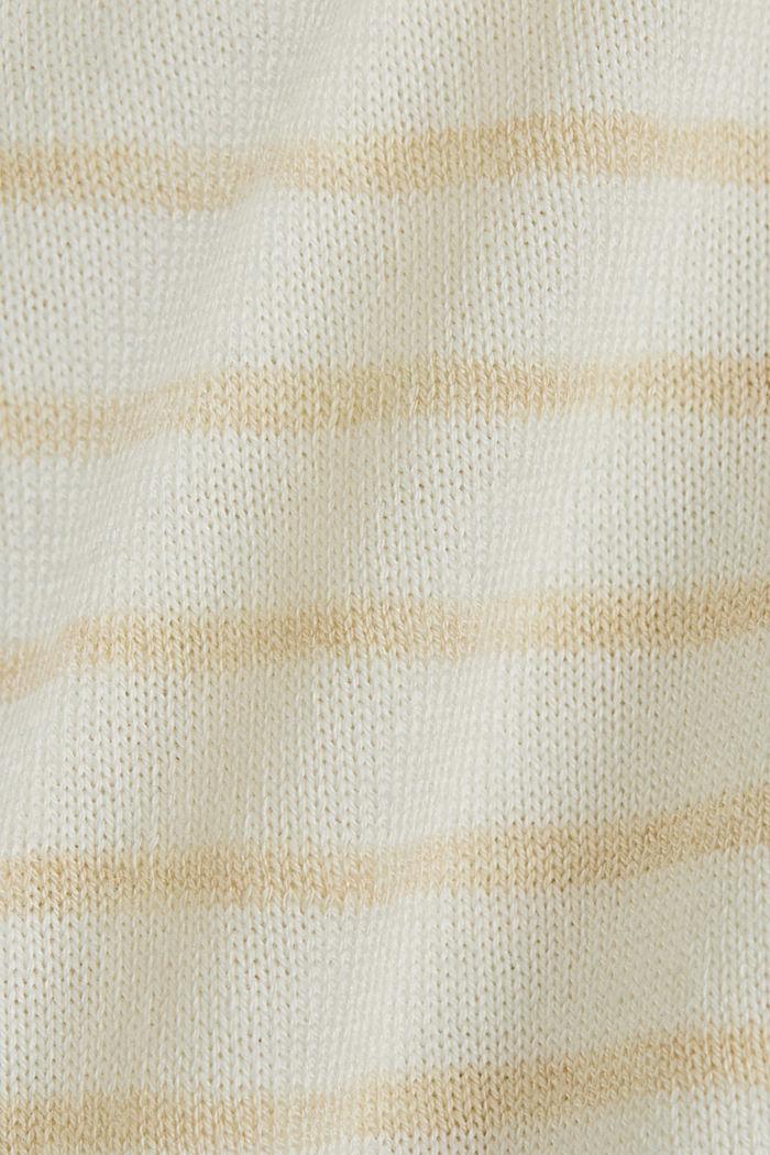 Jersey fino de manga corta con LENZING™ ECOVERO™, CREAM BEIGE, detail image number 4