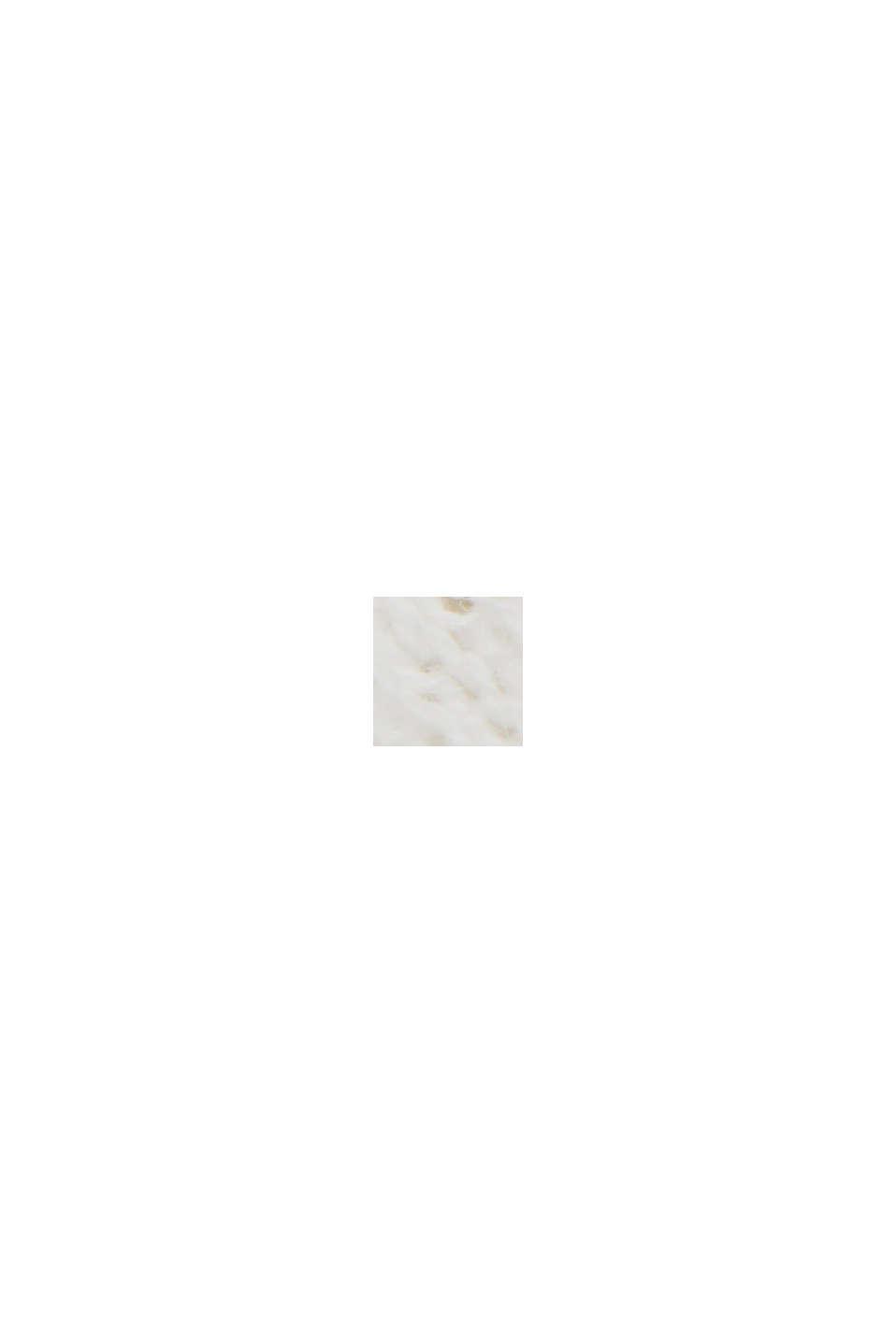 Recycelt: Pointelle-Cardigan mit Leinen, OFF WHITE, swatch