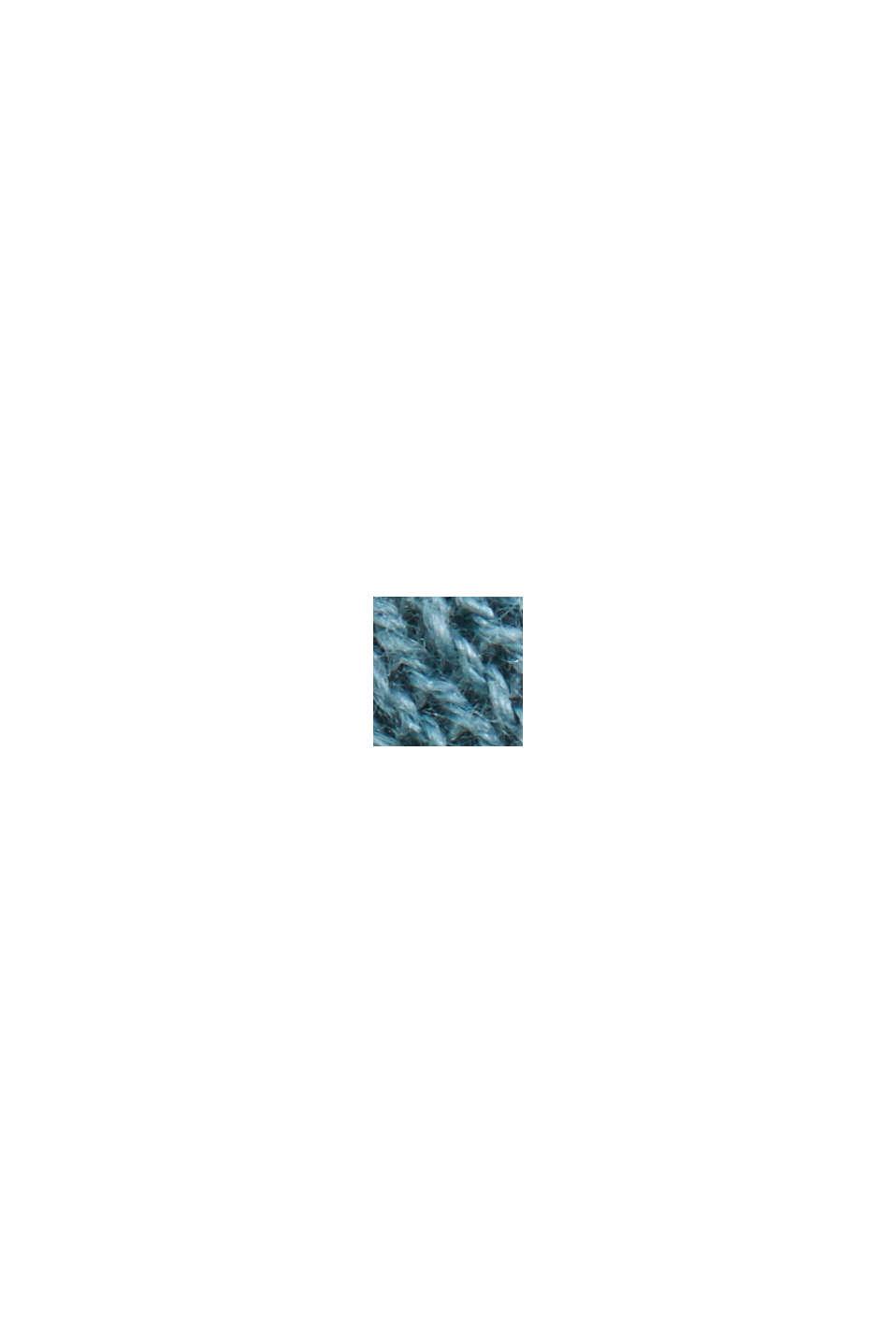 Recycelt: Pointelle-Cardigan mit Leinen, DARK TURQUOISE, swatch