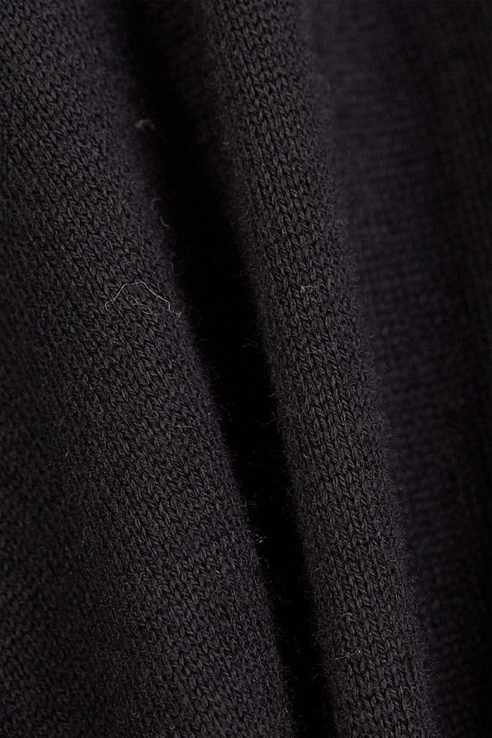 Gestricktes Top mit LENZING™ ECOVERO™, BLACK, detail image number 3