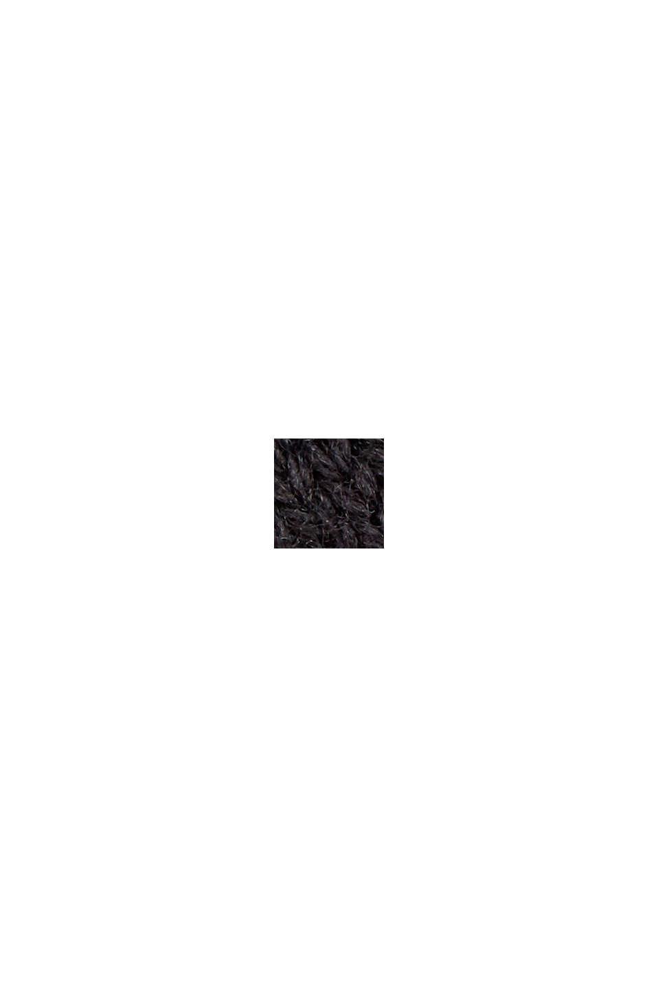 Gestricktes Top mit LENZING™ ECOVERO™, BLACK, swatch