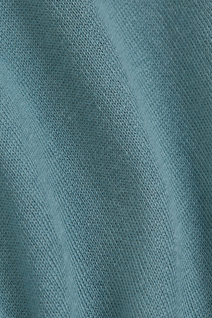 Knit top containing LENZING™ ECOVERO™, DARK TURQUOISE, detail image number 4