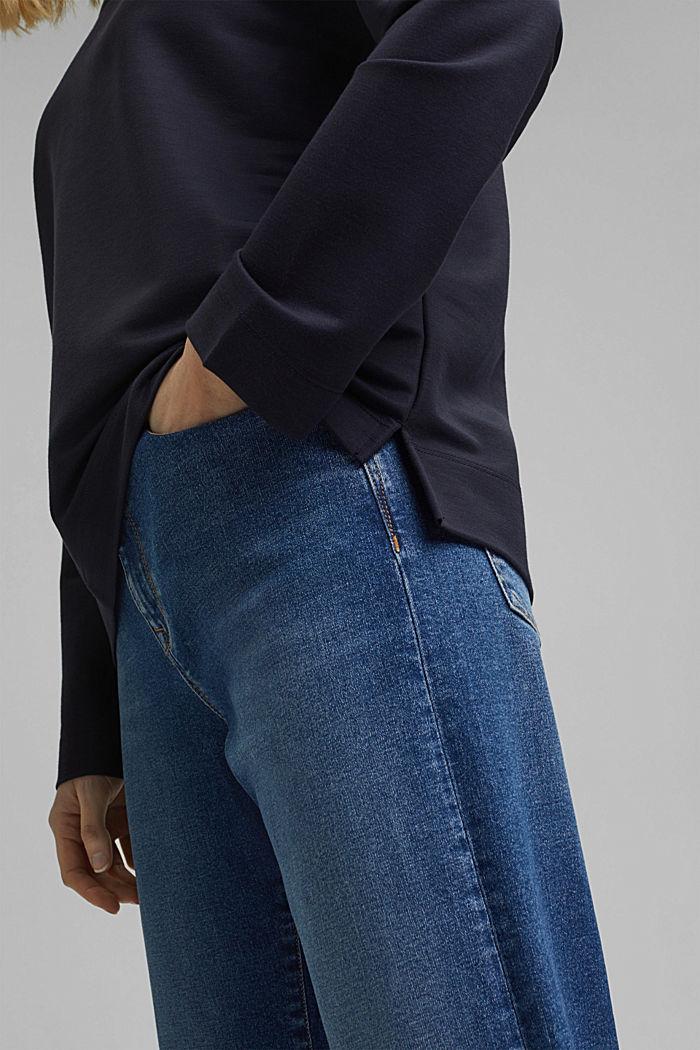 Piqué texture sweatshirt, NAVY, detail image number 2