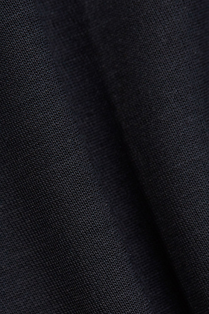 TENCEL™: T-Shirt mit U-Boot-Ausschnitt, BLACK, detail image number 4