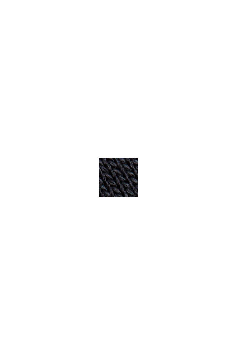 TENCEL™: T-Shirt mit U-Boot-Ausschnitt, BLACK, swatch