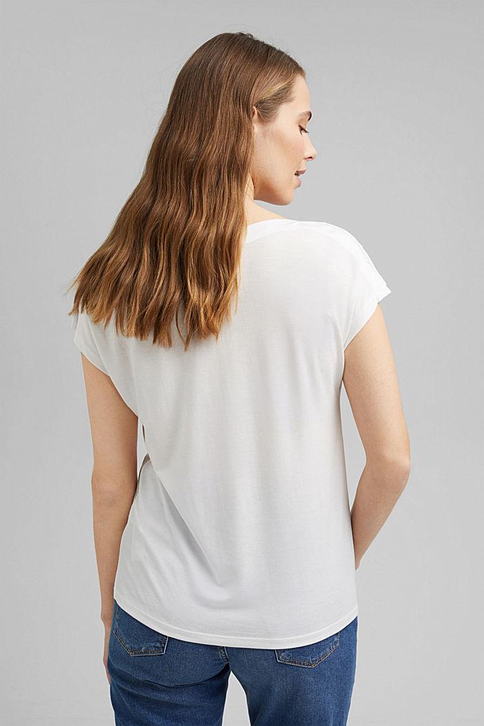 TENCEL™: T-Shirt mit U-Boot-Ausschnitt, OFF WHITE, detail image number 3