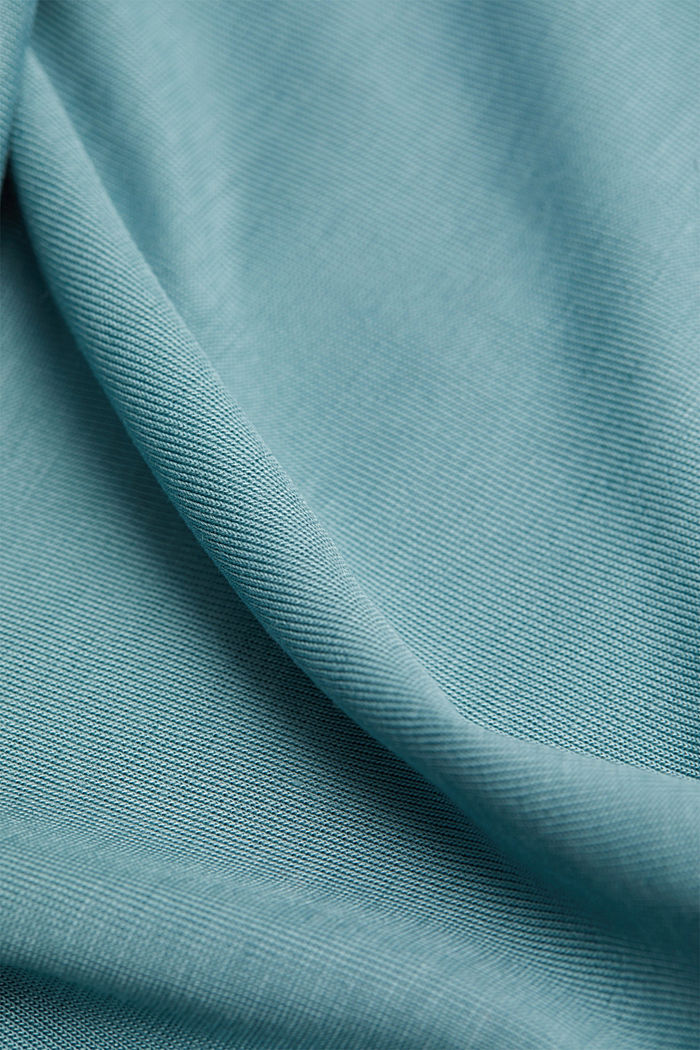 TENCEL™: T-shirt with a bateau neckline, DARK TURQUOISE, detail image number 4