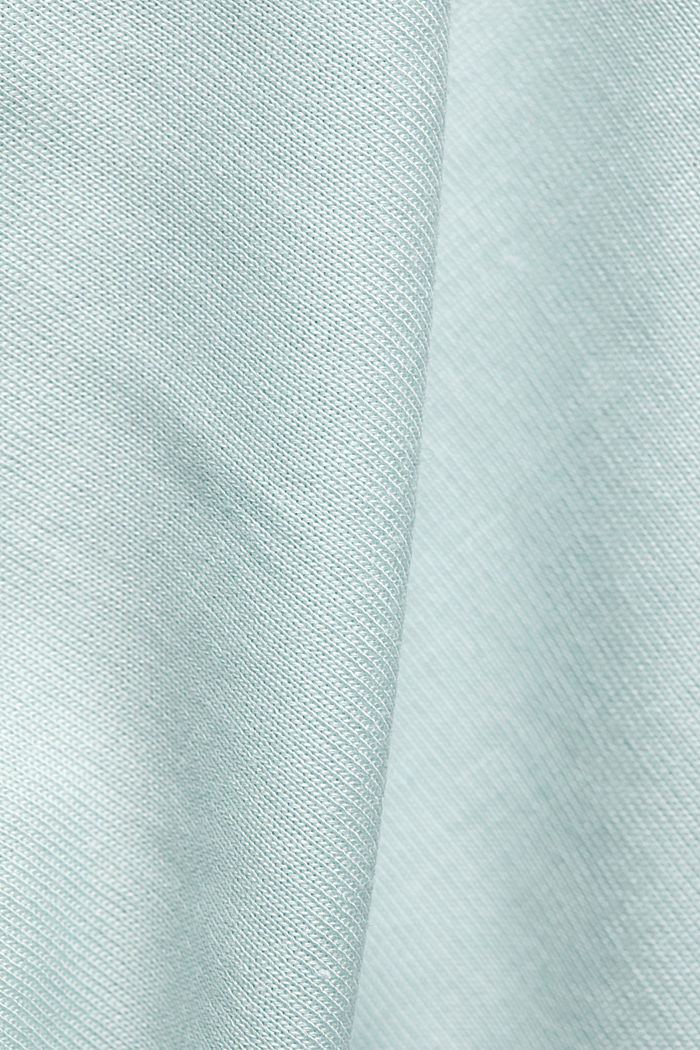 TENCEL™: T-shirt with a bateau neckline, LIGHT TURQUOISE, detail image number 4