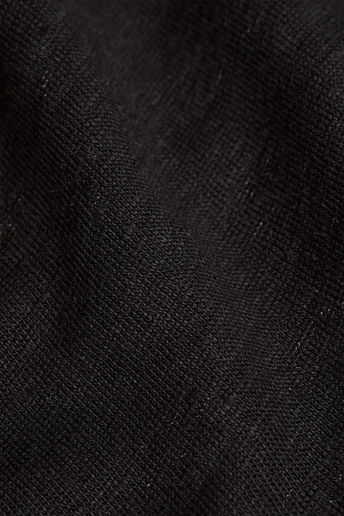 Aus Leinen: Basic T-Shirt, BLACK, detail image number 4