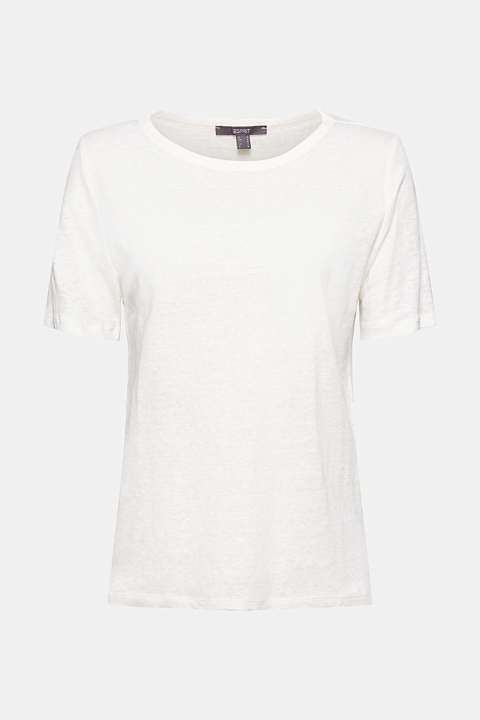 Aus Leinen: Basic T-Shirt, OFF WHITE, overview