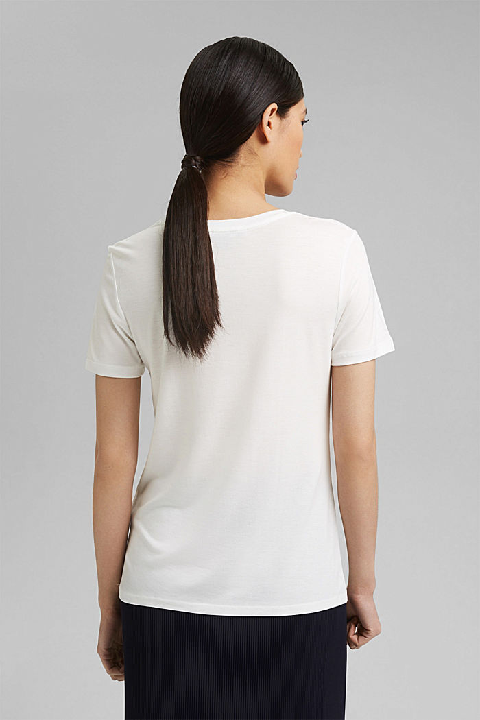 T-Shirt aus Lyocell (TENCEL™), OFF WHITE, detail image number 3